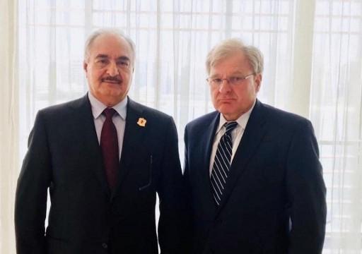 حفتر يلتقي السفير الأمريكي لدى ليبيا في أبوظبي