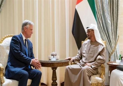 محمد بن زايد يستقبل المبعوث الأميركي لشؤون الرهائن