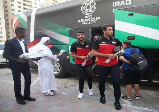 كأس آسيا19: أسود الرافدين يصلون الشارقة استعداداً لمواجهة اليمن