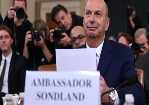 ترامب يُقيل سفير واشنطن لدى الاتحاد الأوروبي