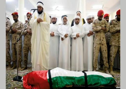 الفجيرة تشيع جنازة أحد ضحايا حادثة سقوط طائرة الإنقاذ برأس الخيمة