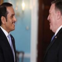 وزير الخارجية القطري يبحث الأزمة الخليجية مع نظيره الأمريكي