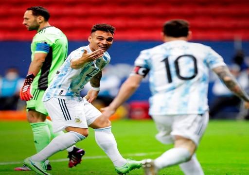 الأرجنتين تلحق بالبرازيل إلى نهائي كوبا أميركا