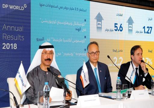 4.67 مليارات درهم صافي أرباح موانئ دبي خلال 2018