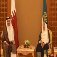 أمير الكويت يتسلم رسالة من الشيخ تميم حول مستجدات المنطقة