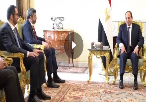 السيسي يستقبل عبدالله بن زايد في القاهرة