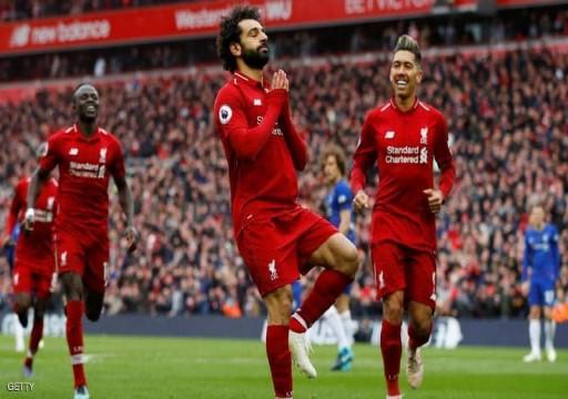 محمد صلاح وماني يعيدان ليفربول لصدارة الدوري الإنجليزي