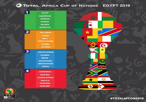 كاف يعلن التصنيف الرسمي لمنتخبات أمم أفريقيا