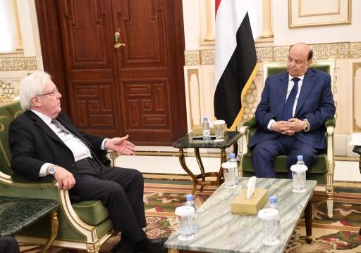 الرئيس اليمني يطالب بكشف الطرف المعرقل لتنفيذ اتفاق السويد