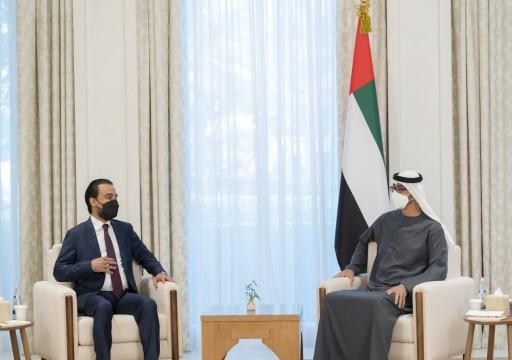 """محمد بن زايد يبحث مع رئيس مجلس النواب العراقي تنمية """"التعاون البرلماني"""""""