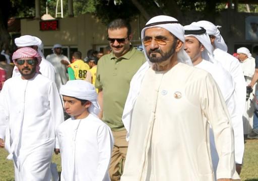 محمد بن راشد يشهد كأس اليوم الوطني للقدرة