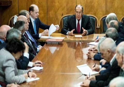 """وزير الخارجية الروسي: """"صفقة القرن"""" تهدف إلى تدمير كل القرارات المتعلقة بالقضية الفلسطينية"""