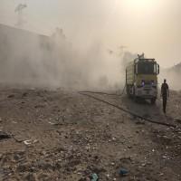 حريق كبير في المنطقة الصناعية بعجمان