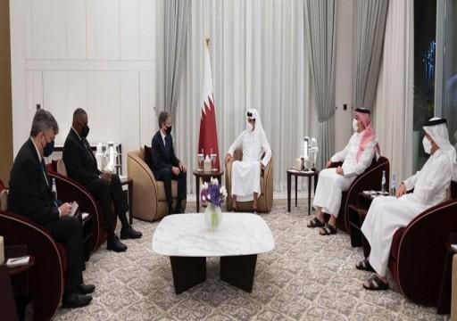 أمير قطر يبحث الملف الأفغاني مع وزيري الخارجية والدفاع الأمريكيين