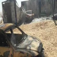 انفجار سيارة مفخخة عند بوابة أمنية لجيش حفتر بمدينة أجدابيا الليبية