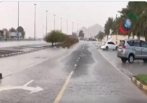 أمطار الخير تهطل على مناطق عدة من الدولة
