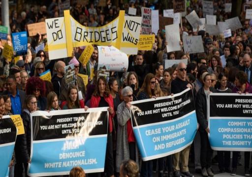 بعد هجوم الكنيس اليهودي.. ترامب يواجه احتجاجات في بيتسبرغ
