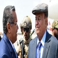 مصادر: شرط إماراتي باسم التحالف لعودة هادي والحكومة إلى عدن