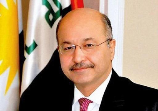 محمد بن زايد يدعو الرئيس العراقي لزيارة الإمارات