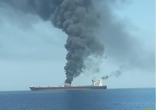 غرق ناقلة نفط قبالة سواحل الإمارات كانت تحمل نفطا من أبوظبي