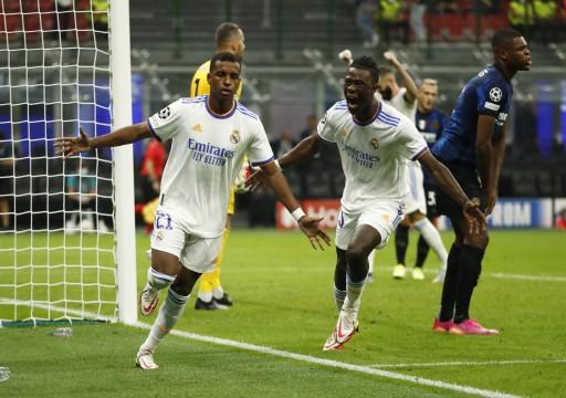 رودريجو يقود ريال مدريد لانتصار قاتل على إنتر ميلان بدوري الأبطال