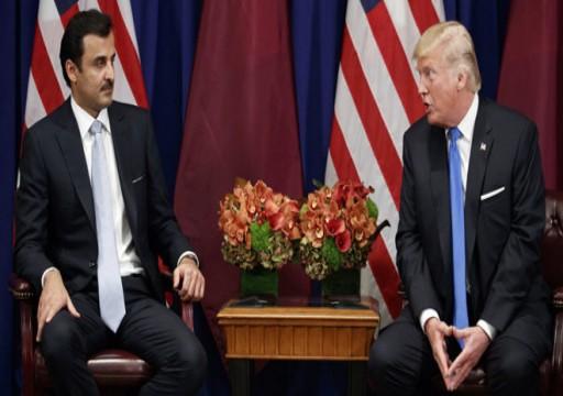 أمير قطر وترامب يبحثان مستجدات الأوضاع في المنطقة