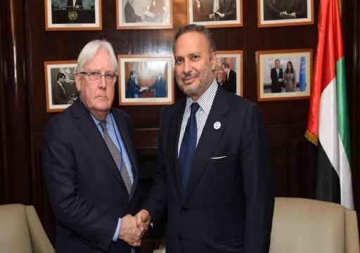 قرقاش: غريفيث أدرك مؤخراً عرقلة الحوثي لاتفاق السلام في اليمن