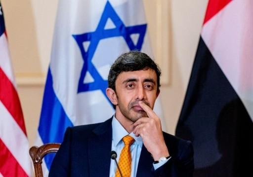عبدالله بن زايد يلتقي مستشار الأمن القومي الأمريكي