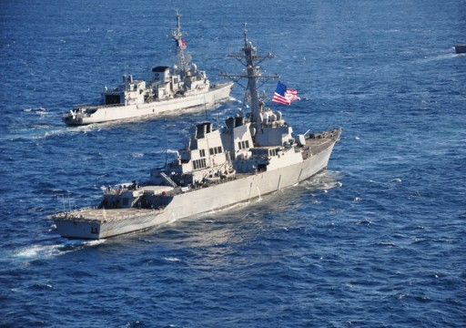 """واشنطن تنفي تعرض """"مدمرة"""" لمطاردة روسية في بحر اليابان"""