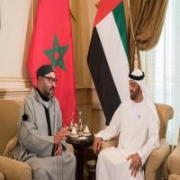 محمد بن زايد يستقبل ملك المغرب ويبحثان العلاقات الثنائية