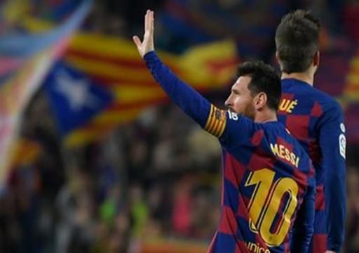 ميسي يقود برشلونة إلى اكتساح بلد الوليد في الدوري الإسباني