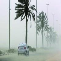 توقعات الأرصاد: رياح مثيرة للغبار وأمطار متوقعة اليوم