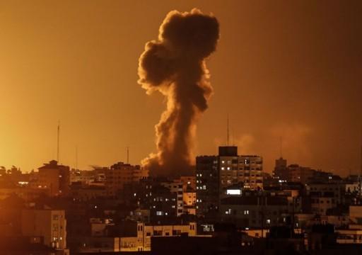 الاحتلال لإسرائيلي يشن غارات على مواقع جنوبي قطاع غزة