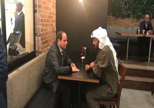 اتصال هاتفي بين محمد بن زايد والسيسي