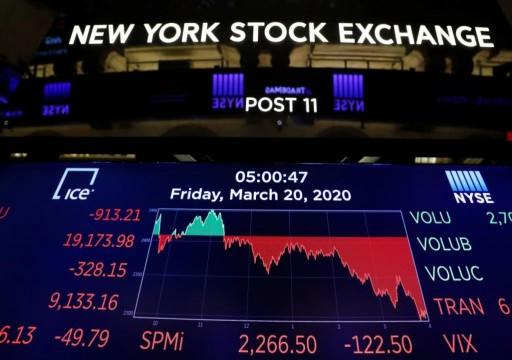 شبح الكساد الكبير بسبب كورونا.. أسبوع من الفوضى بأسواق المال العالمية