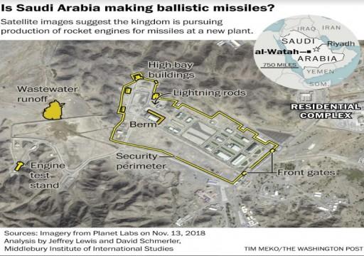 الأقمار الصناعية تكشف مساعي السعودية لإنتاج صواريخ باليستية