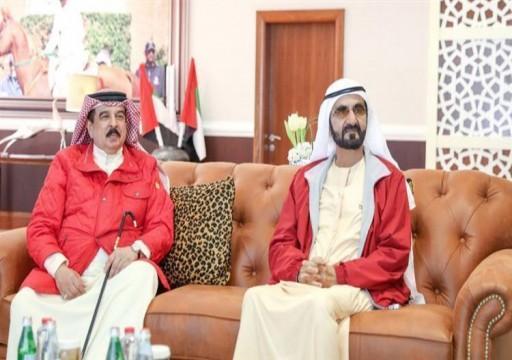 ملك البحرين يستقبل محمد بن راشد في المنامة