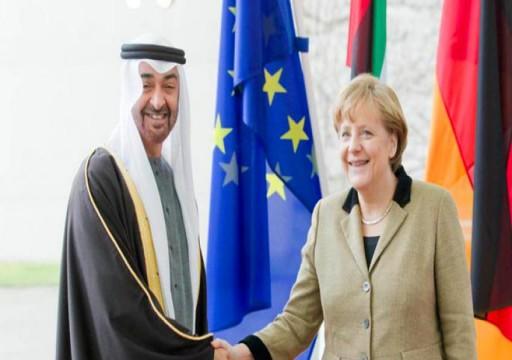 محمد بن زايد يبحث هاتفياً مع المستشارة الألمانية أنغيلا ميركل التعاون المشترك