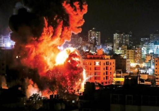 طائرات الاحتلال الإسرائيلية تقصف أهدافا في قطاع غزة 