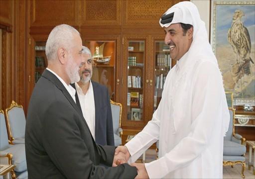 أمير قطر يقدّم 480 مليون دولار دعماً للشعب الفلسطيني.. وهنية يشكره