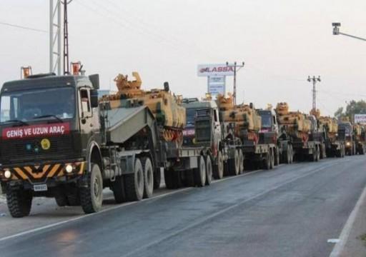 تركيا ترسل تعزيزات كبيرة إلى نقاط مراقبة قواتها في إدلب