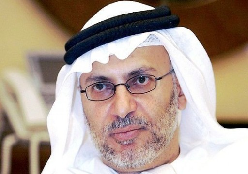 قرقاش يعتبر دعوة السعودية لقمة خليجية وعربية تحرك دبلوماسي مهم