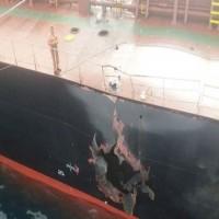 """التحالف: إصلاح سفينة الشحن التركية ووصولها ميناء """"الصليف"""" اليمني"""