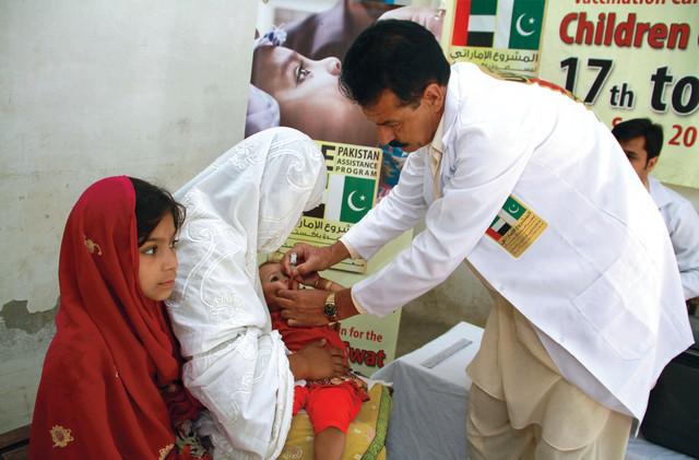 المشروع الإماراتي: تطعيم 2.5 مليون طفل باكستاني ضد شلل الأطفال