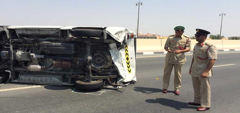 وفاة شخص وإصابة 3 آخرين في حادث تصادم بدبي