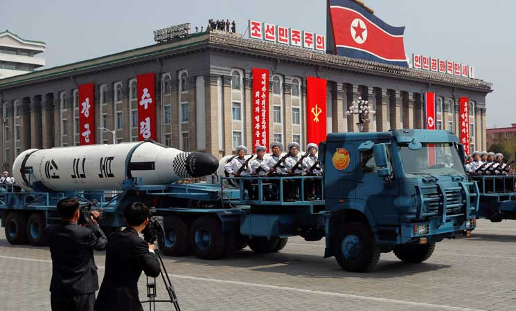 كوريا الشمالية تعرض فيديو زائفا لصواريخ تنفجر في أمريكا