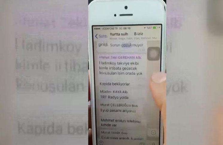 انقلابيو تركيا تواصلوا من خلال مجموعة على تطبيق واتس آب
