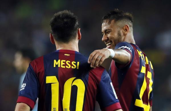 غياب ميسي ونيمار عن تدريبات برشلونة بعد الفوز على إيبار