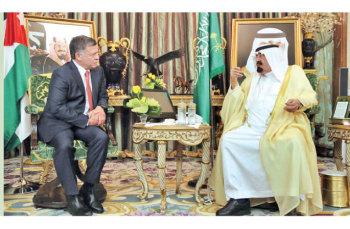 قمة سعودية اردنية تبحث الأوضاع في المنطقة