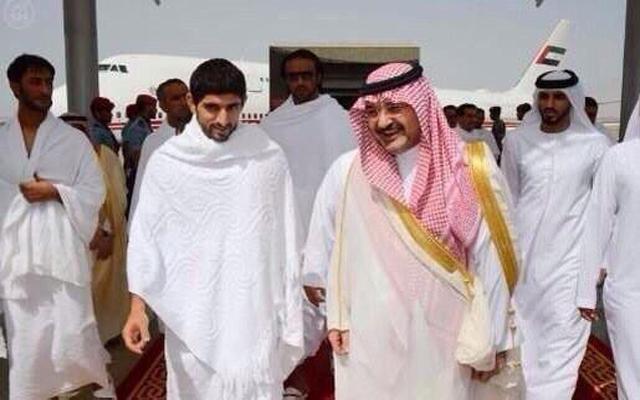 حمدان بن محمد بن راشد يعود الى  أرض الوطن